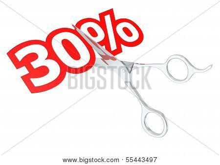 Cut 30 percent