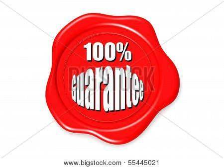 100 guarantee stamp image with hi-res rendered artwork that could be used for any graphic design. poster