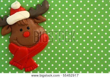 Happy Reindeer face