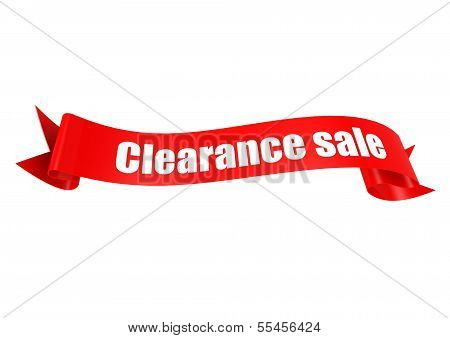 Clearance sale ribbon