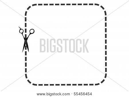 Dot line with scissor