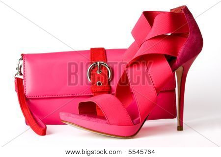 Pink Shoes And Purse