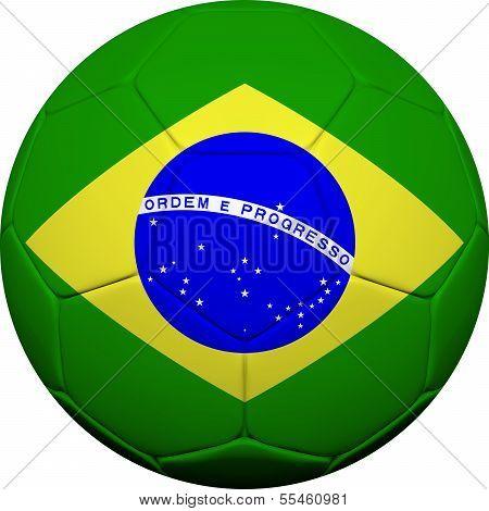 Brazilian Flag With Soccer Ball