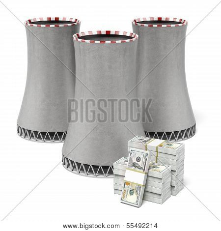 Cooling tower and dollars