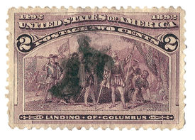United States Stamp Columbus Landing