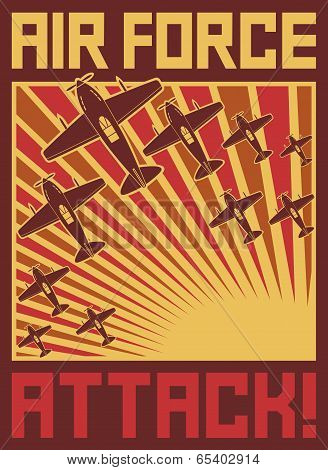 air force attack poster