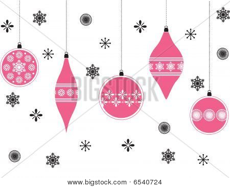 Christmas Baubles Hintergrund