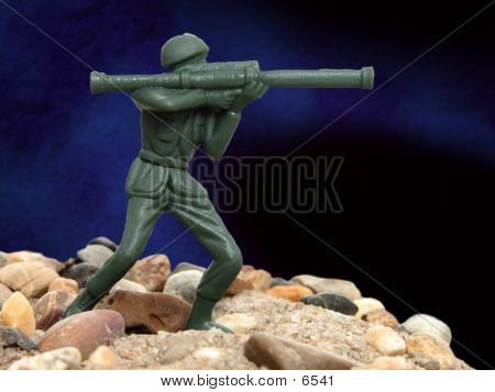 Portrait Of A Green Army Man 01