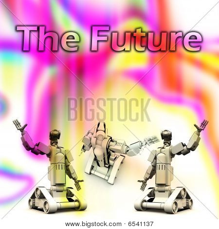 An Image about the future of Robotics. poster