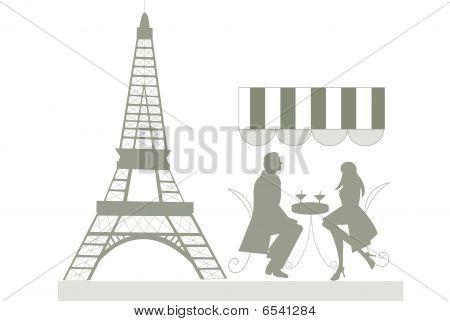 couple at a cafe in Prais