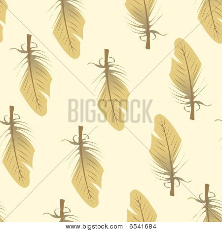 Seamless tile vector texture pattern, small feather poster