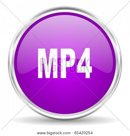 mp4 pink glossy icon