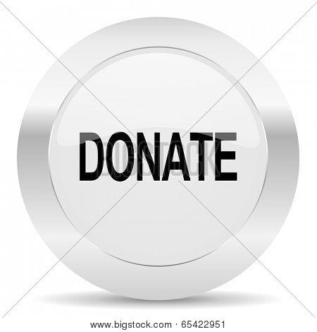 donate silver glossy web icon