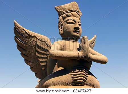 clay statue of mythological flying celestial Ningxia China poster