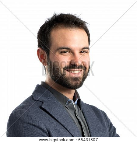 Businessman With Arms Crossed Over Isolated Background