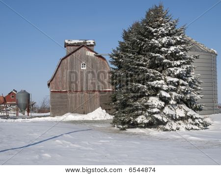 Winter scene in Iowa