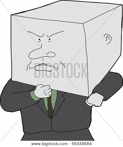 Man With Block Head