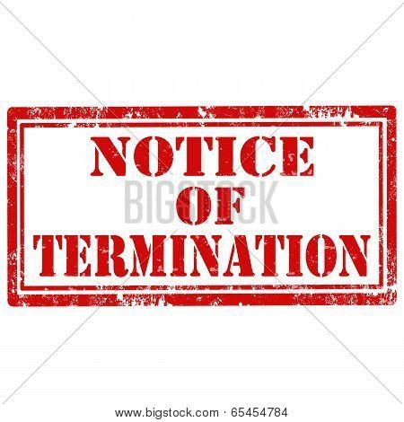 Notice Of Termination-stamp