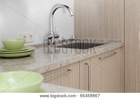 Water Tap In Modern Interior