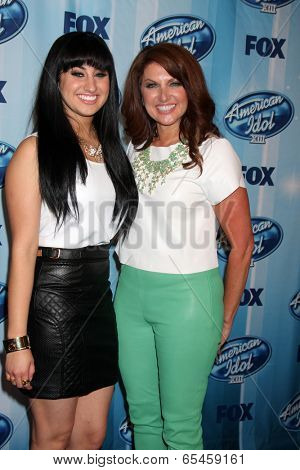 LOS ANGELES - MAY 21:  Jena Irene, Julie Asciutto at the American Idol Season 13 Finale at Nokia Theater at LA Live on May 21, 2014 in Los Angeles, CA