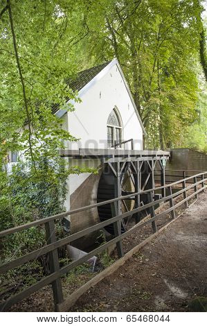 Water Mill With Bladewheel In Forest