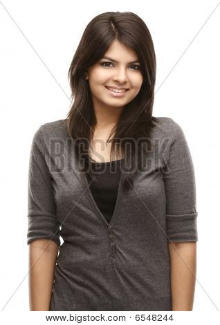 Asian girl in a happy expression