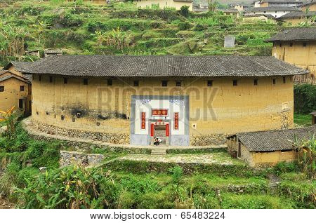 FUJIAN - MAY 03: Earth Castle inside, Chinese as