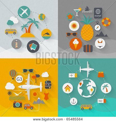 Travel flat design illustration