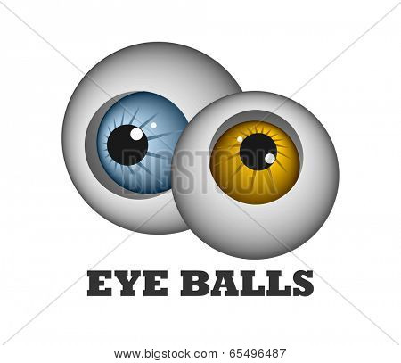 An illustration of two funny eye balls