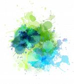 Multicolored watercolor splash blot for your design poster