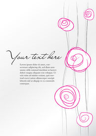 Background With Abstract Floral Pink And Gray Elements
