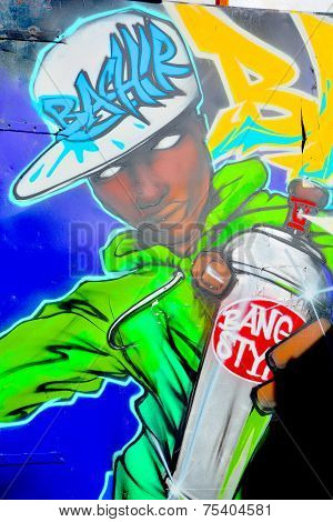 Street art tagger