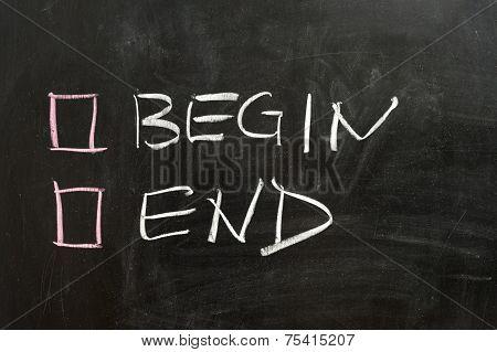 Begin Or End