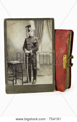 The gallant officer in an ancient photo