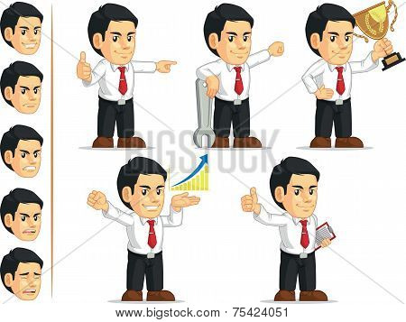 Office Worker Customizable Mascot 7