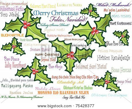Merry Christmas Multilingual Greeting