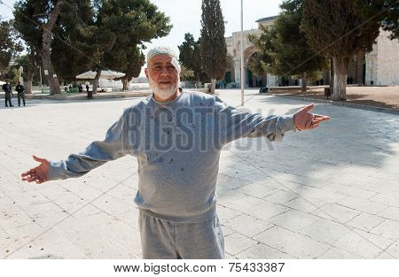 Wounded Muslim Man