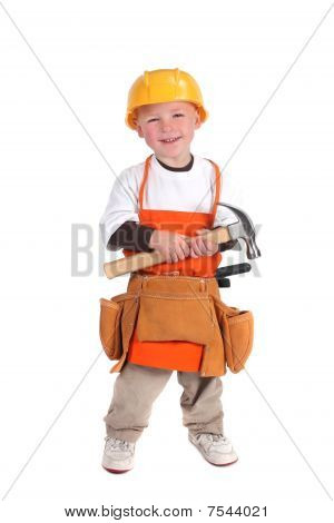 Construction Building Worker Wearing Hard Hat