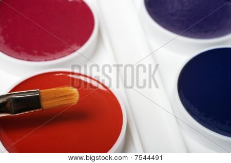 Brush And Water Colour Paints