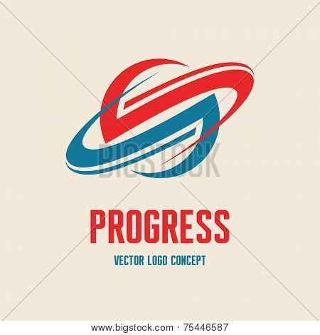 Progress - vector logo concept