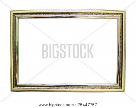 Empty frame on a white background