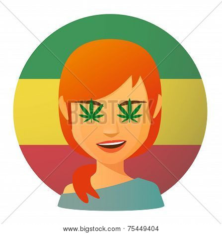 Avatar With Marijuana Leafs
