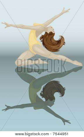 Vector Female Dancer