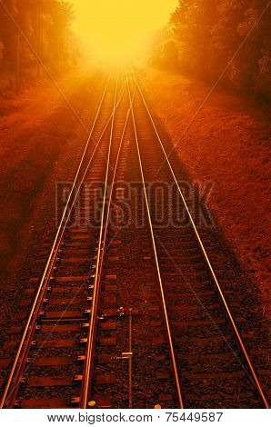 Railways On Fire - Photomanipulation