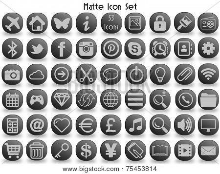 Matte Icon Set (53)