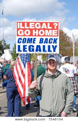 Protester of Illegals.