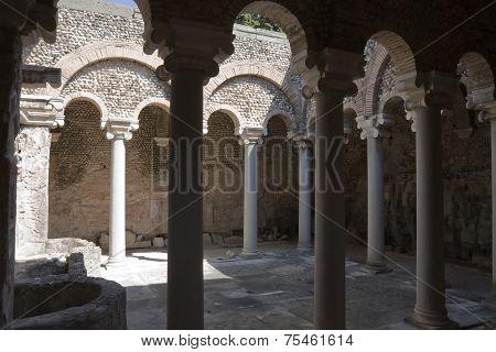 Ols Roman Bath Place In Kos City, Greece