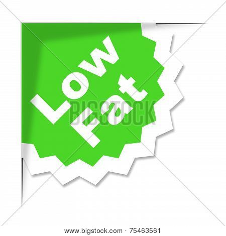 Low Fat Label Represents Weight Loss And Diets