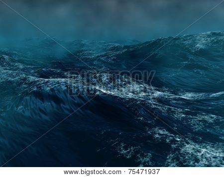 Hard Storm In The Sea