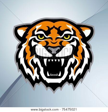 Tiger head mascot. Vector